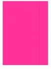 Office Folder A4 with rubber varnished pink