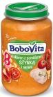 Pasta BoboVita con tomate, jamón y queso