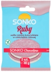 Sonko Rice-corn wafers in pink chocolate
