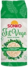 Sonko Fit Vege Rice cakes with vegetables, green peas and kale