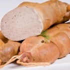 Traditional steamed and smoked liver sausage