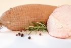 Traditionelles Essen Putenschinken 100% Pute, geräuchert, gedämpft, mindestens verpackt