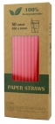 Biodegradable red paper straws