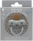 Hevea Round rubber pacifier Gorgeous gray 3-36 months