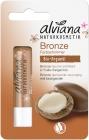 Бальзам для губ Alviana Bronze с аргановым маслом и маслом макадамии