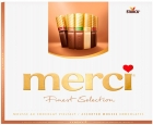 Merci Finest Selection A collection of chocolates with chocolate mousse