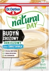 Dr. Oetker My Natural Day Cereal pudding spelled flavor cream