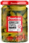 Dawtona gherkins with habanero peppers