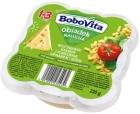 Almuerzo para niños pequeños de Bobovita: pasta vegetariana con tomates, espinacas y queso