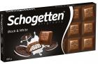 Молочный шоколад Schogetten Black & White с ванильной начинкой и кусочками какао-печенья
