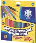 Lápices de colores acuarelables Astra 24 colores