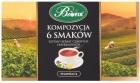 Bifix Eine Reihe von schwarzen Teebeuteln - eine Zusammensetzung von 6 Geschmacksrichtungen
