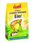 Mitades de huevos de chocolate y plátano Casali