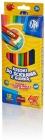 Lápices de colores Astra Triangular 12 colores con goma de borrar