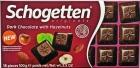 Schogetten Dark chocolate with pieces of roasted hazelnuts