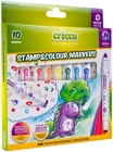 Cricco Double-sided markers with stamps of 10 colors
