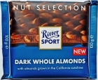 Ritter Sport Dessert Chocolate with Whole Almonds