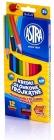 Lápices de colores Astra Triangular 12 colores con sacapuntas