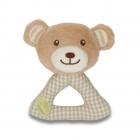 Cotton teddy bear rattle made of ecological cotton, approx. 3 months old