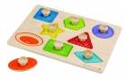 EverEarth A wooden jigsaw puzzle with handles for shapes over 18 months old