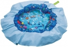 Pool and blanket for the beach, reversible 2 in 1