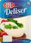 Sándwich de queso cottage Mlekovita Delisner en rodajas