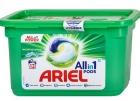 Cápsulas de lavado Ariel All y 1 Mountain Spring Para telas blancas y claras