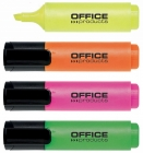 Office Highlighters set of 4 colors 2-5MM (line)