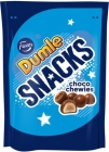 Dumle Snacks choco chewies balls with a toffee flavor in milk chocolate