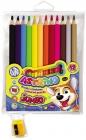 Astra Astrino Chalk Jumbo triangular pencils 12 colors in wood + sharpener with sharpener