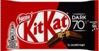 Nestlé KitKat Dark 70% Wafer en barra en chocolate negro.
