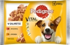 Pedigree Adult dog food, a mixture of beef, liver and poultry