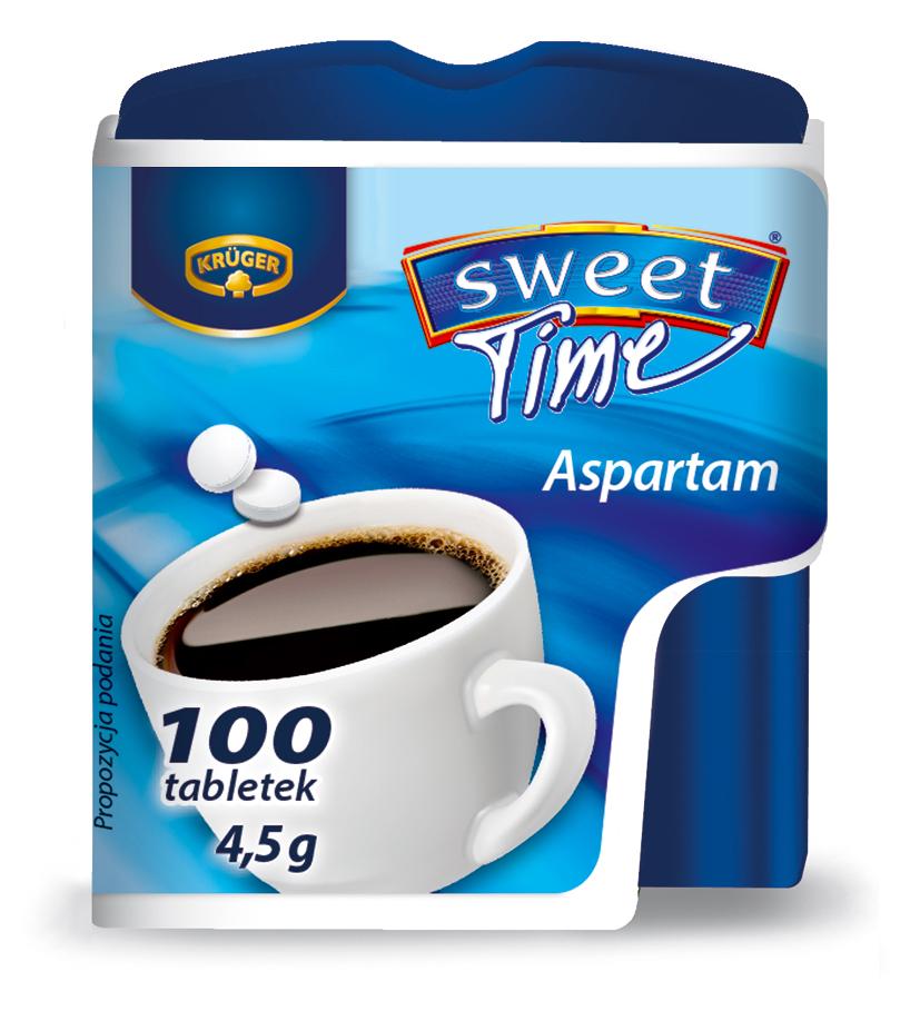 Krüger Słodzik Sweet Time 100 Słodzik stołowy w tabletkach na bazie aspartamu