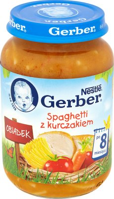 Gerber obiadek spaghetti z kurczakiem