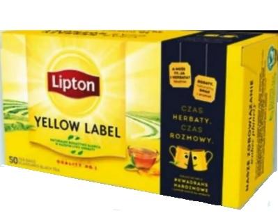 Lipton Yellow Label herbata czarna ekspresowa 50 torebek