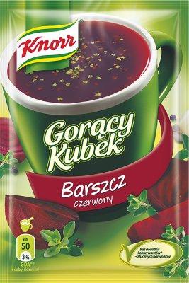 Gorący Kubek Knorr zupa w proszku barszcz czerwony