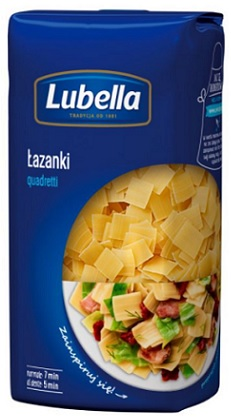 Lubella makaron  Łazanki nr 46 (Quadretti)