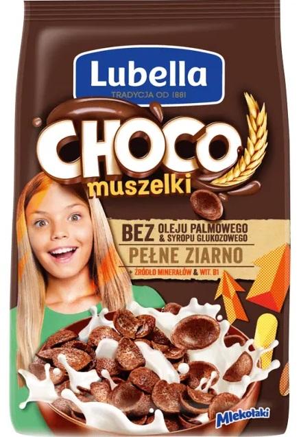 Lubella Mlekołaki płatki śniadaniowe muszelki czekoladowe