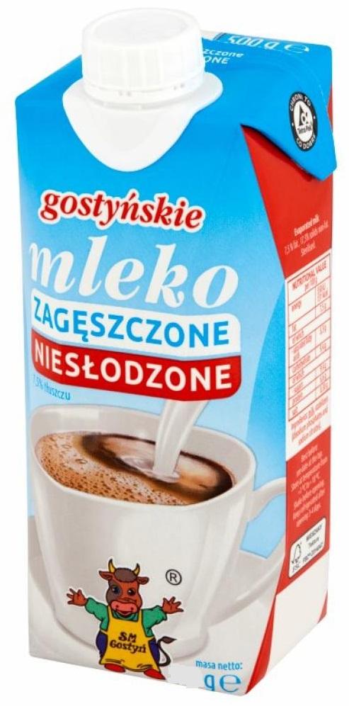 SM Gostyń mleko zagęszczone 7,5% niesłodzone