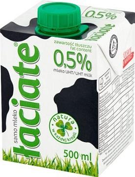 Łaciate mleko 0.5% tłuszczu UHT