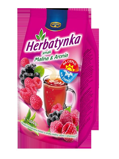 Krüger Herbatynka smak malina i aronia.