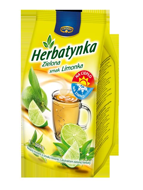 Herbatynka zielona - smak limonka Napój herbaciany instant
