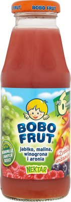 Bobo Frut nektar  jabłko, malina i winogrona
