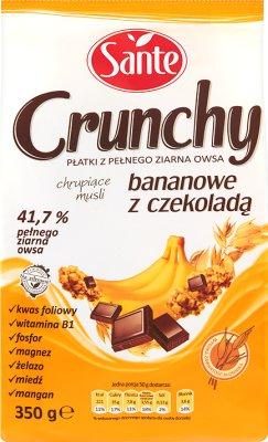 Sante Crunchy płatki śniadaniowe musli  bananowe z czekoladą