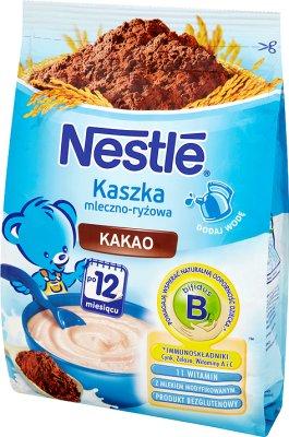 Nestle kaszka mleczno-ryżowa z kakao