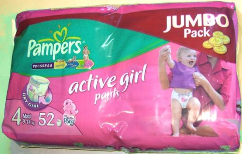 Pampers Active Girl Pants 4 Maxi 9 14 Kg Jumbo Pack
