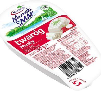 Mlekpol Mazurski Smak twaróg tłusty klinek