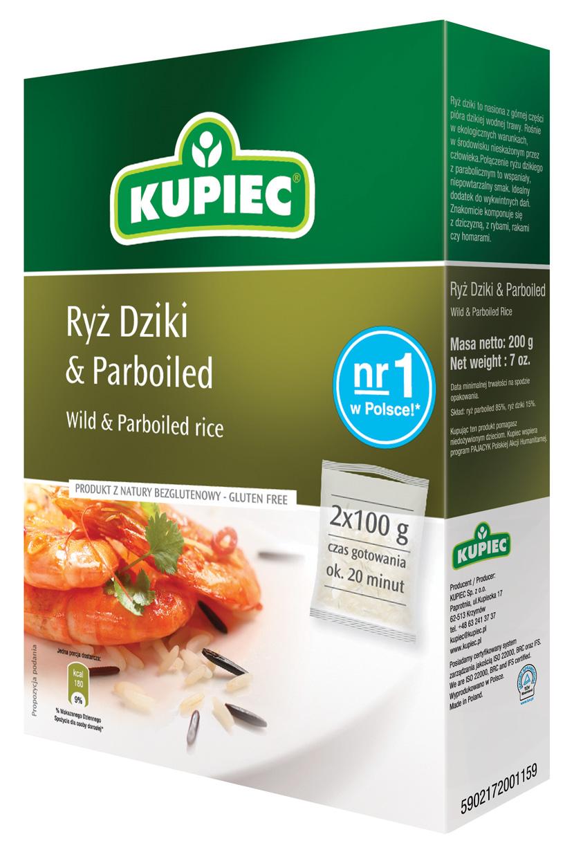 riz sauvage et étuvé