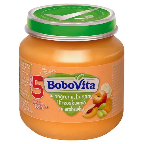 BoboVita deserek winogrona, banany i brzoskwinie z marchewką
