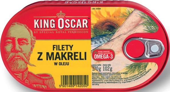 King Oscar filety z makreli w oleju